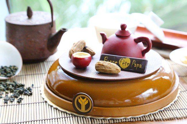 「壺氣爸爸」即日起於玫瑰烘焙坊販售至8月10日,每個8吋原價980元、預購期間6...
