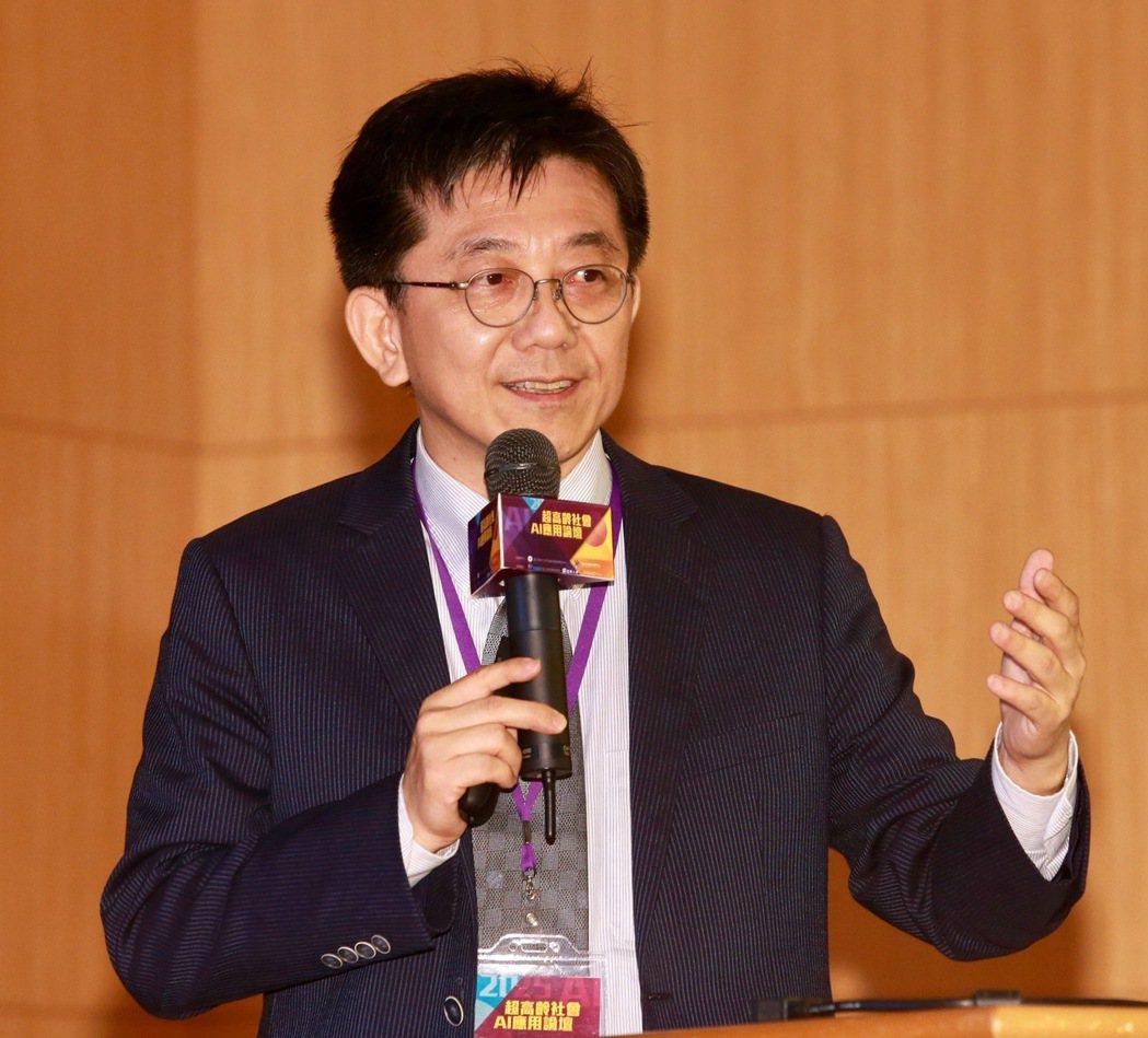 超高齡社會AI應用論壇,仁寶電腦軟體研發本部副總經理徐睿鈞指出,最新發展AI機器...