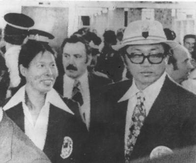 1976年蒙特婁奧運,我代表團因名稱問題無法參賽‧。圖為紀政(左)與楊傳廣在蒙特...