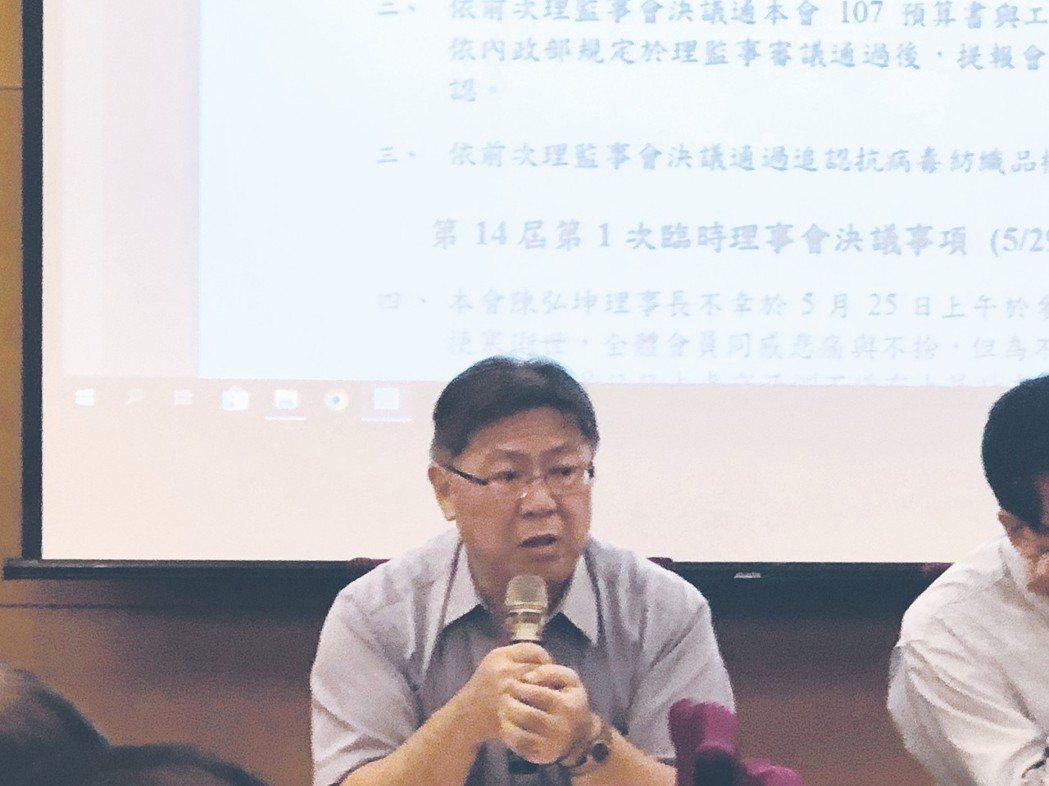 台灣區不織布工業同業公會代理事長陳勝龍。 不織布公會/提供