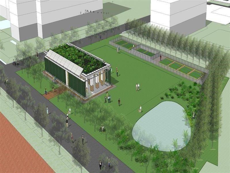 國際珍古德根與芽生態教育中心模擬圖。 長榮大學/提供