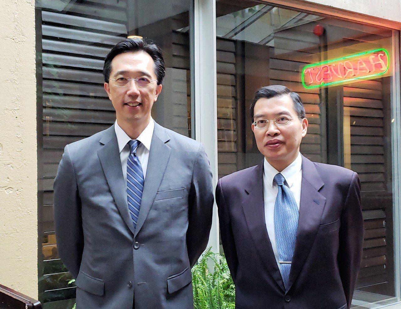 駐波士頓台北經濟文化辦事處處長徐佑典(左)。 聯合報系資料照/記者唐嘉麗攝影