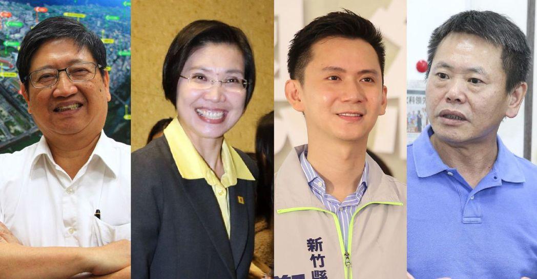 楊文科(左起)、徐欣瑩、鄭朝方、林為洲。 圖/聯合報系資料照片