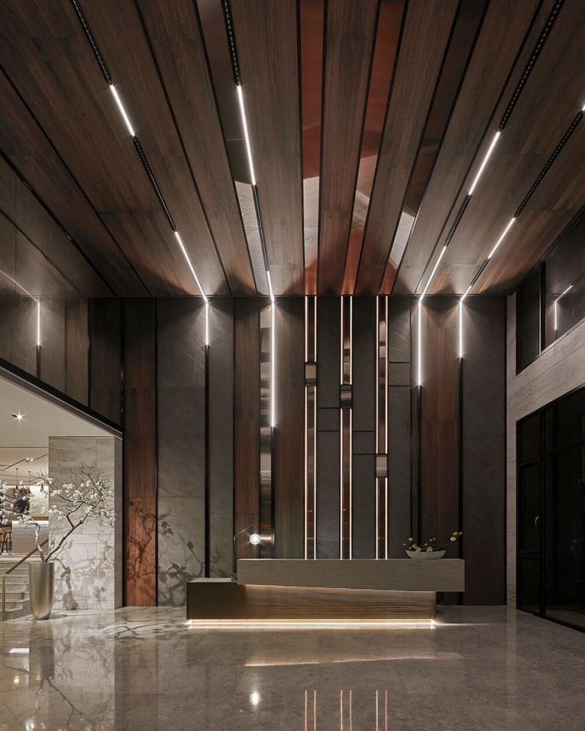台中《順天天璞》室內設計: 沁弦·築形。燈光設計: 沁弦·築影。 圖/ Cosm...