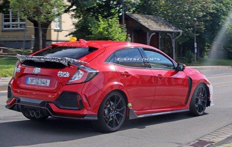 Honda Civic Type-R小改款測試中 尾翼竟然縮水了?