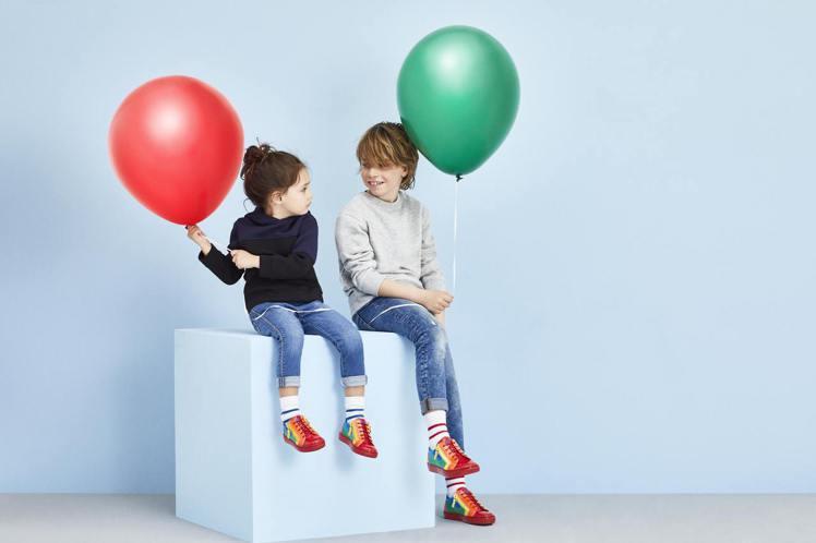 Giuseppe Zanotti「RNBW」低筒運動鞋也有童鞋,約台幣19,36...