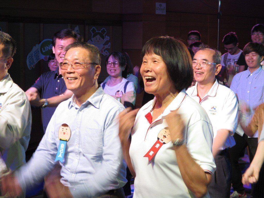紀政與民間團體推動「2020東京奧運台灣正名公投」。 圖/聯合報系資料照片