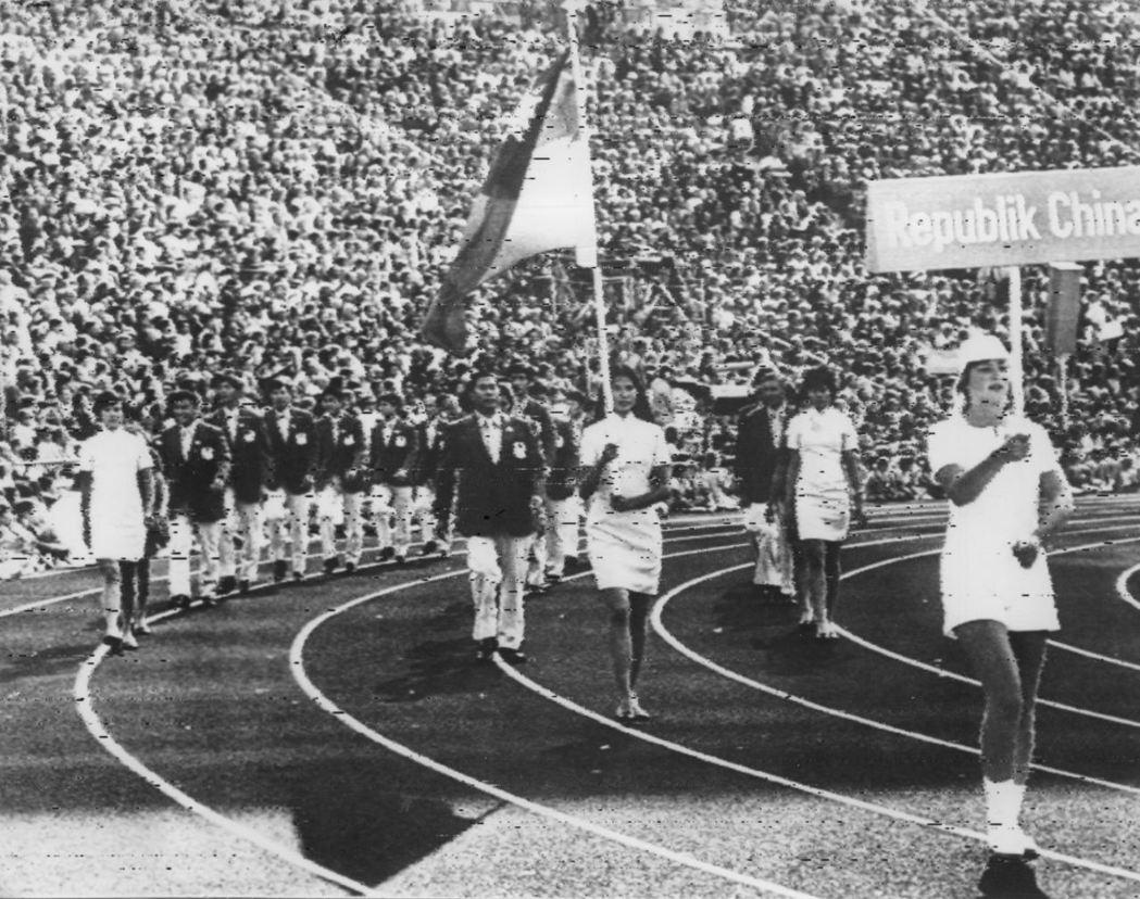 慕尼黑奧運,紀政在開幕儀式中為國家掌旗。 圖/聯合報系資料照片