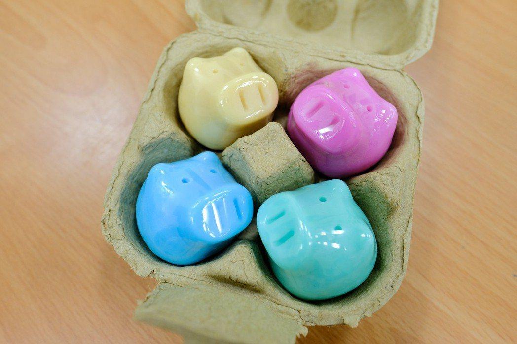 新竹縣義民祭的皂豬。 記者張念慈/攝影