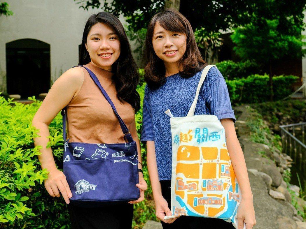 新竹縣張學良斜背包、關西小旅行側背包受文青喜愛。 記者張念慈/攝影