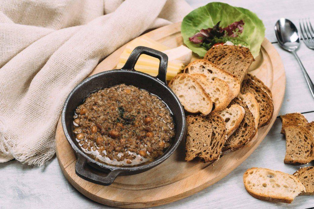 別的地方吃不到的溫德私房抹醬佐德國麵包。溫德德式烘焙餐館/提供
