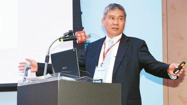 台達電董事長海英俊。 記者林俊良/攝影