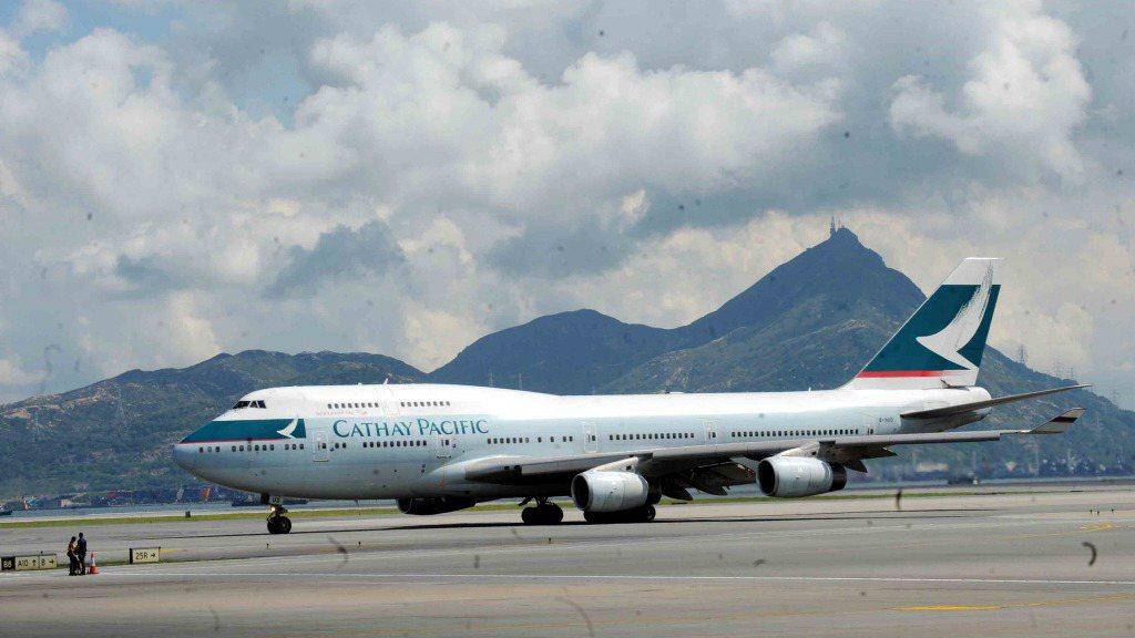 香港國泰航空。 香港中通社