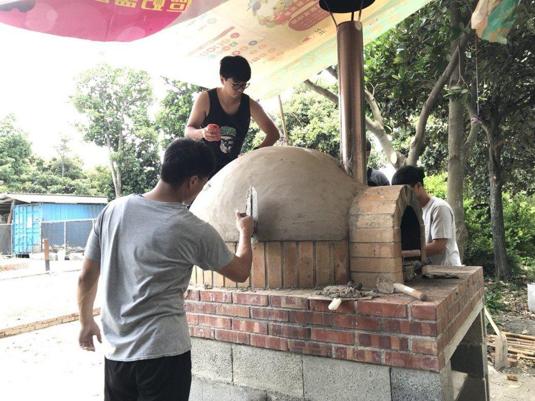 用水泥替窯裝飾 明道大學/提供。