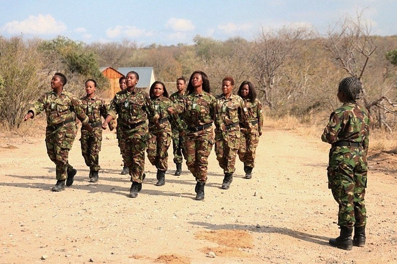 「黑曼巴」是非洲第一支全黑人女性的防盜隊伍,見證女性也能為保護動物出力。 圖/啟...