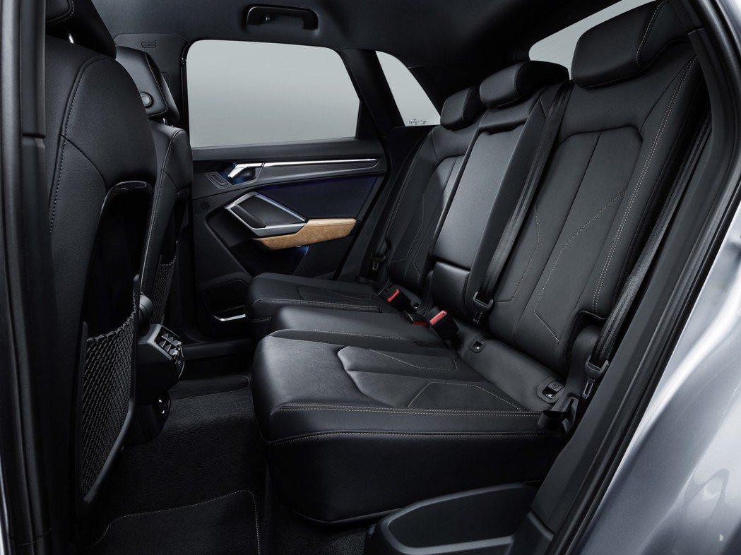 全新Audi Q3共有七段座椅調整功能。 摘自Audi