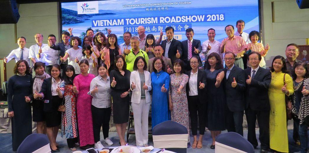 越南國家旅遊總局首次來台舉辦「2018越南觀光推介會」,包括越南國家旅遊總局各部...