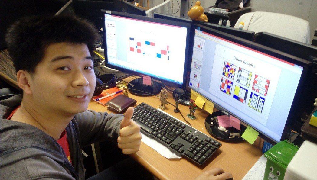 清華大學動力機械工程學系教授丁川康之前在中正大學的碩班生吳家榮,用AI產生「蒙德...