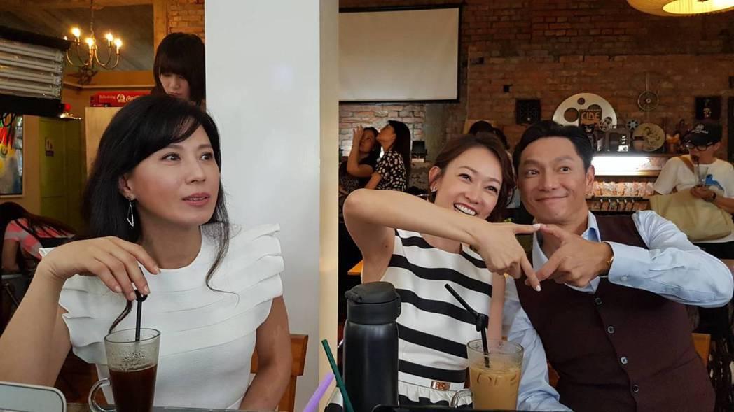 謝祖武(右起)與潘慧如飾演一對初戀情人,正宮則是涂善妮。記者杜沛學/攝影