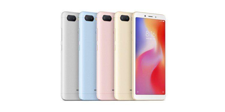 高CP值的紅米6推出鉑銀灰、巴厘藍、流沙金、櫻花粉等4色,3GB/32GB版單機...