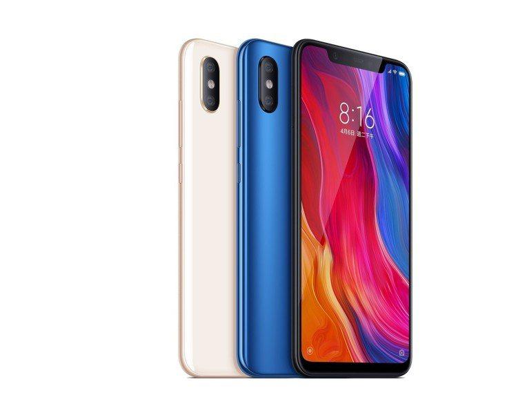 小米8為小米8周年旗艦手機,台灣推出6GB/128GB版本,售價13,999元,...