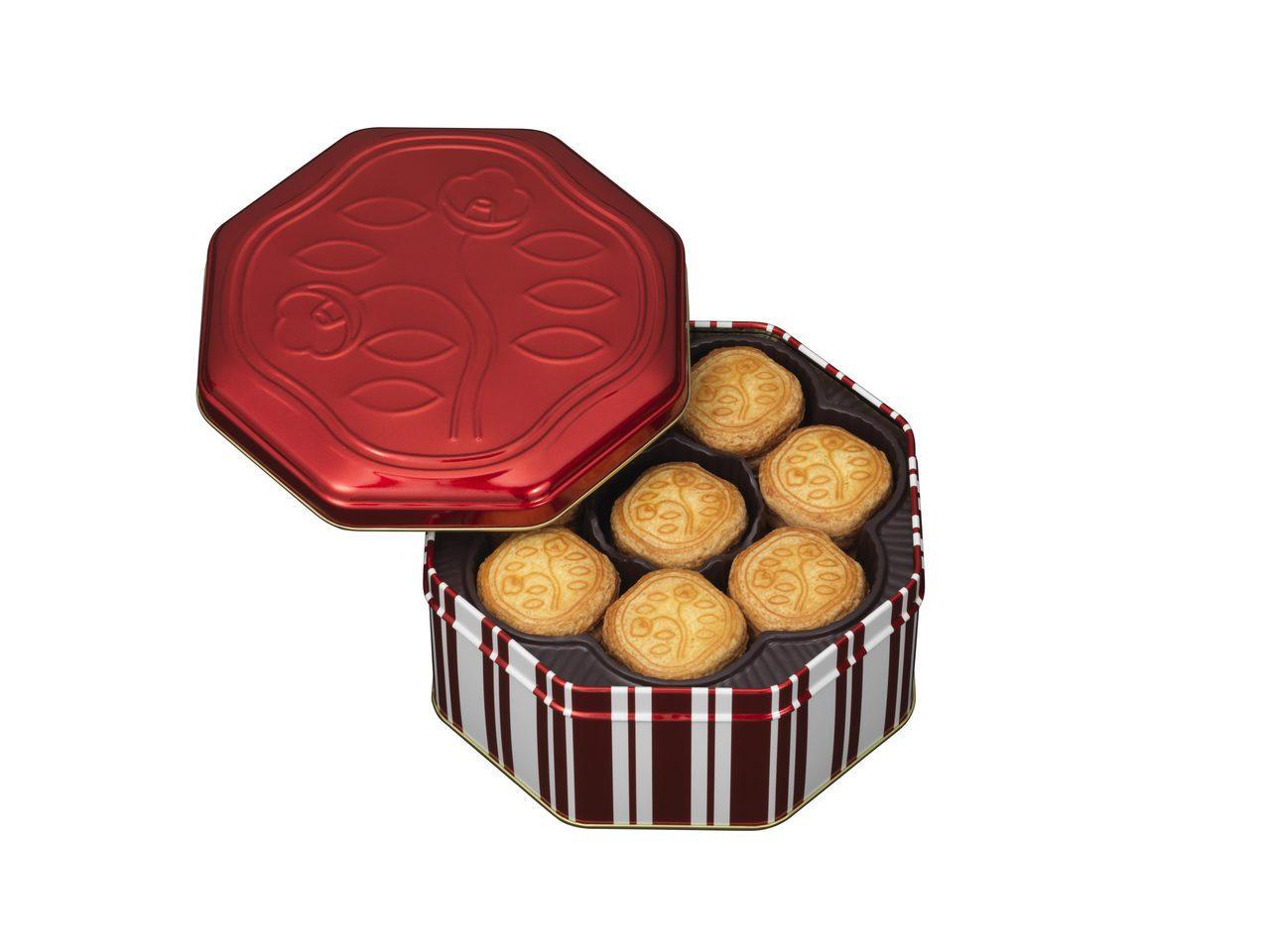 SHISEIDO PARLOUR花椿餅乾48入約1,450元。圖/SOGO提供