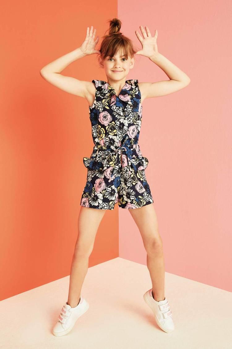 MSGM花卉連身短褲童裝,特價1,920元。圖/Breeze Couture提供