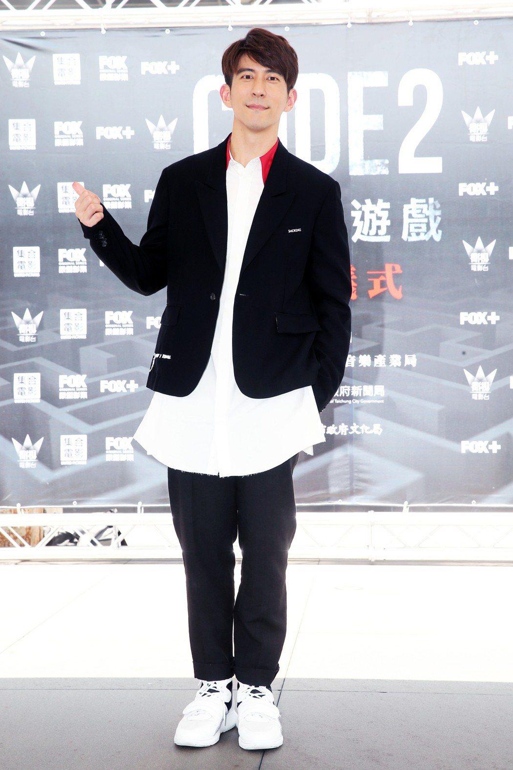 修杰楷昨天出席「浮士德遊戲2」開鏡儀式。記者徐兆玄/攝影