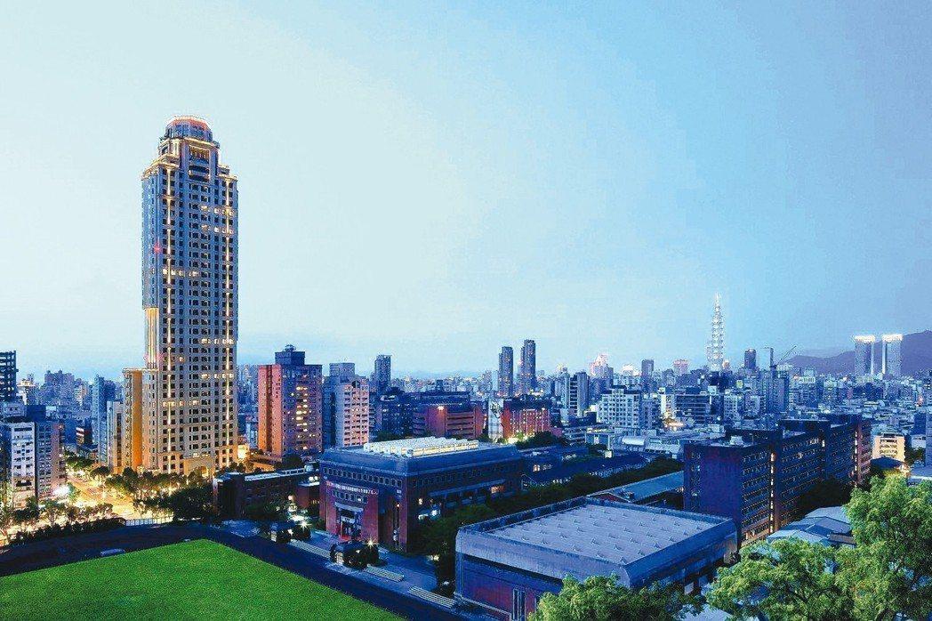 元利「和平大苑」38層的樓層高度,是目前台北市中心最高的住宅大樓。 業者/提供