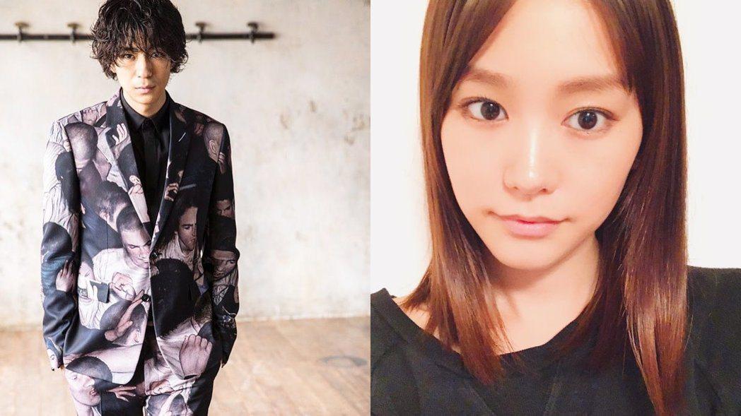 桐谷美玲(右)與三浦翔平(左)宣布結婚。 圖/摘自IG