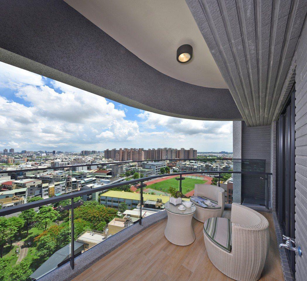 景觀陽台垂直綠化,是對環境更友善的建築。