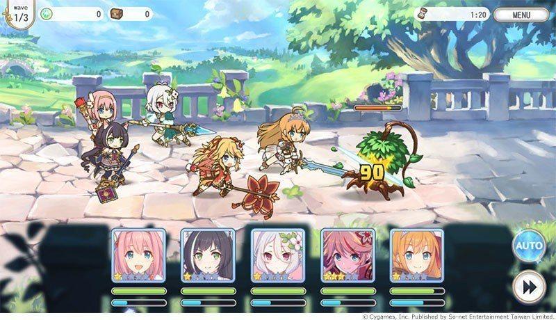 玩家將可派5位角色上場戰鬥,分為前、中、後衛