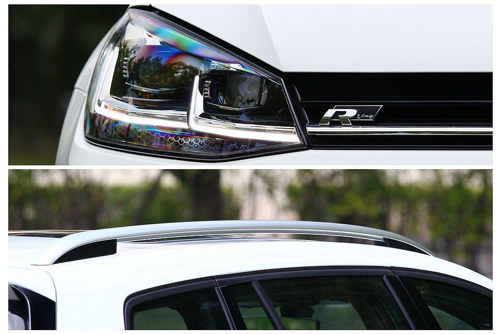 LED雙極線日間行車燈、LED遠近頭燈及LED尾燈,還有車頂金屬鋁合金行李箱架等...