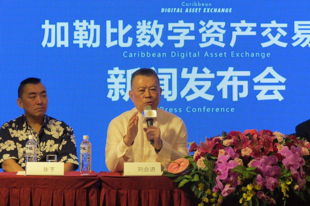 全球洪門聯盟總會長劉會進博士介紹洪門344年的忠義文化。 李福忠/攝影