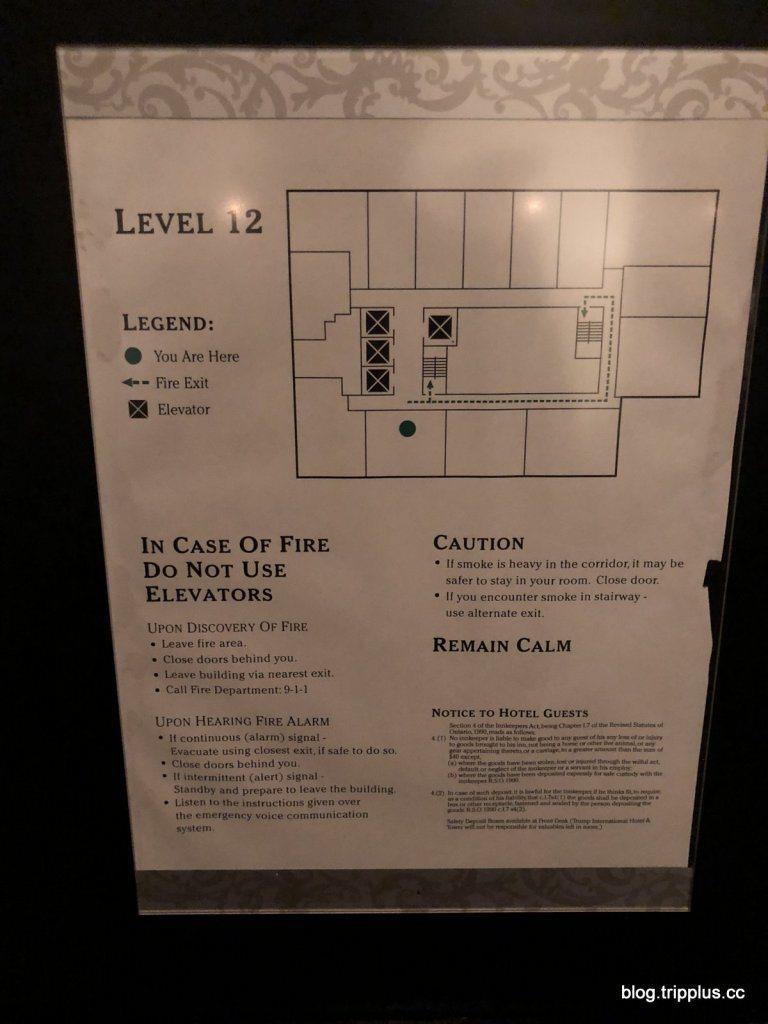 樓層房間分布圖,一層樓的房間不多,這次有幸住到空間很大的豪華套房 圖文來自於:T...