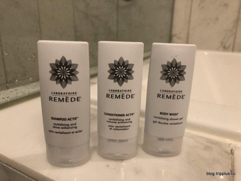 """沐浴用品已經使用瑞吉的""""REMEDE""""品牌 圖文來自於:TripPlus"""