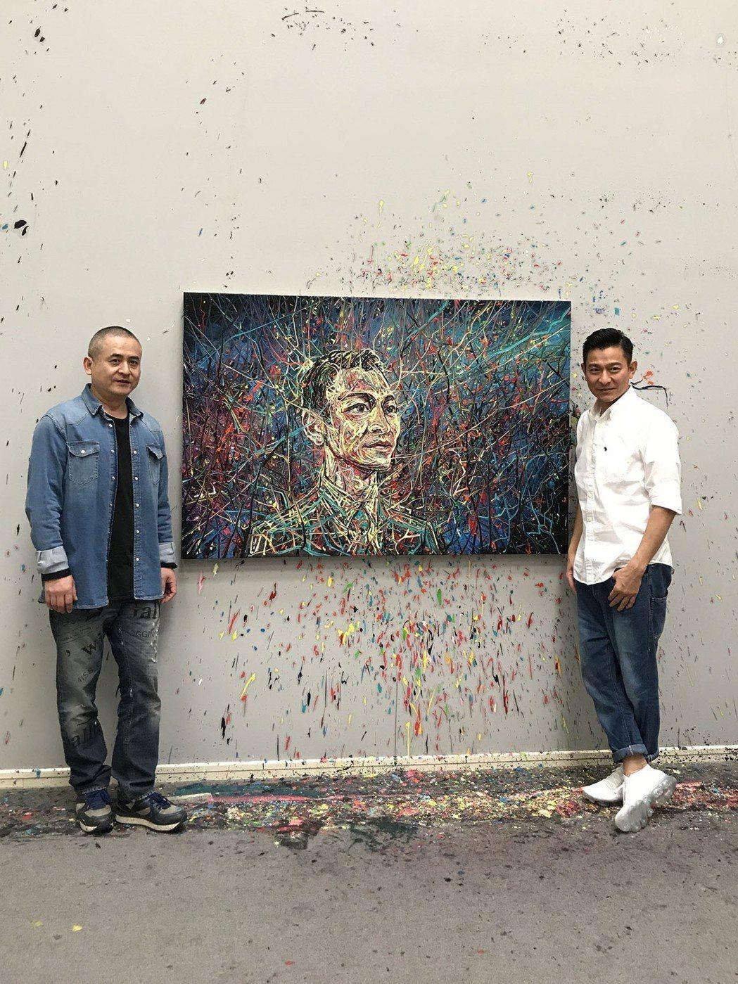 劉德華(右)請到藝術家好友曾梵志操刀演唱會海報,圖/台灣映藝提供
