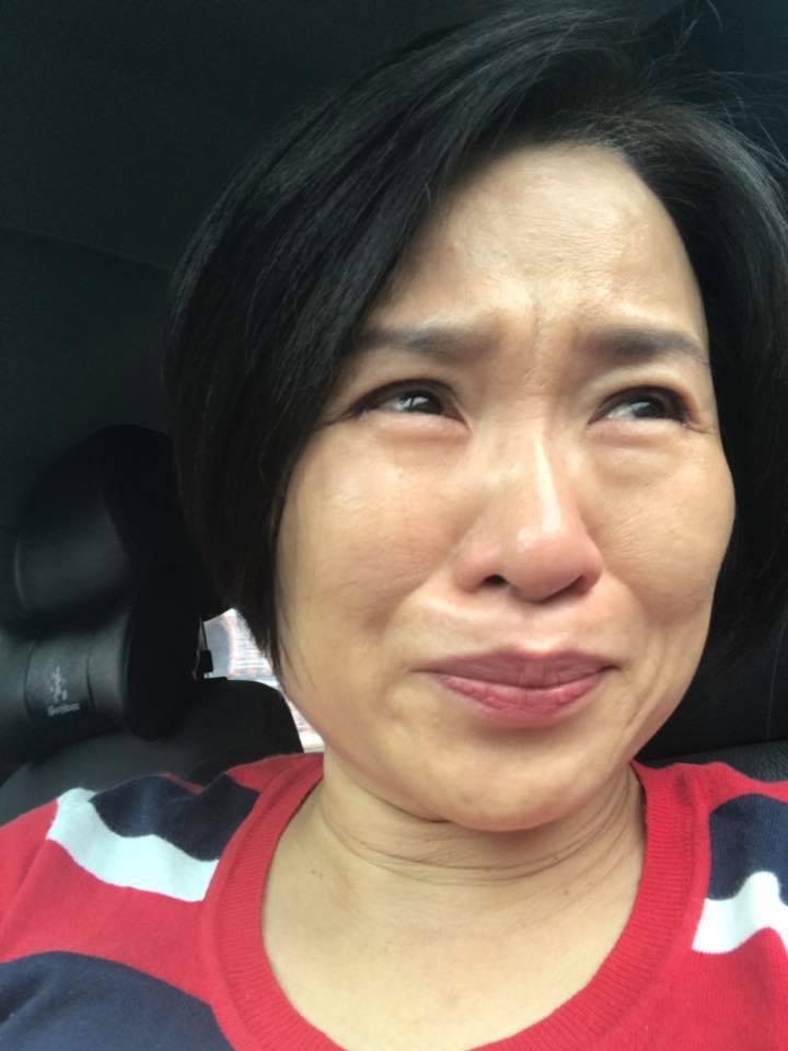 名嘴楊月娥得知女兒考上台藝大,忍不住喜極而泣。圖/摘自楊月娥臉書