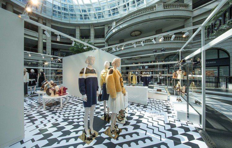 路易威登首家女裝快閃店進駐BELLAVITA寶麗廣場1樓。圖/LV提供