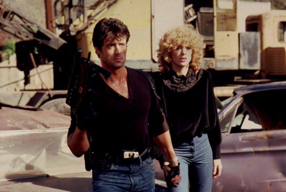 布莉姬尼爾森曾是席維斯史特龍的妻子,也一起合演「眼鏡蛇」。圖/摘自Cineple...