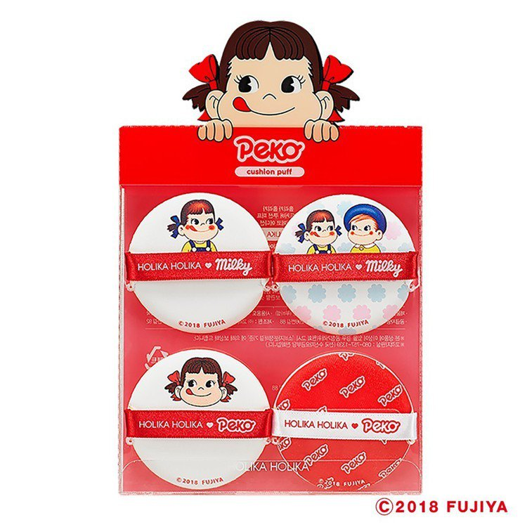HOLIKA HOLIKA X不二家Peko牛奶妹氣墊粉撲4入組 ,售價299元...