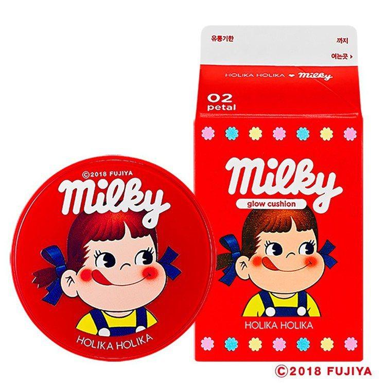 HOLIKA HOLIKA X不二家Peko牛奶妹水潤氣墊粉餅,售價750元。圖...