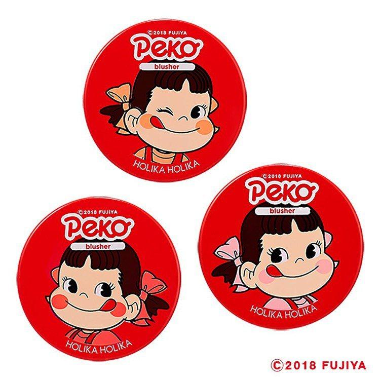 HOLIKA HOLIKA X不二家Peko牛奶妹果凍腮紅,售價390元,共3色...
