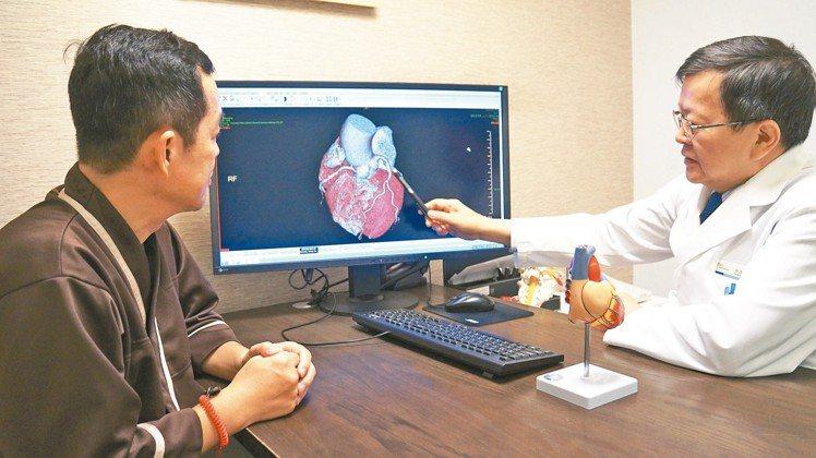 健檢專案透過精密影像檢查,為爸爸健康把關。 圖/北投健康管理醫院提供