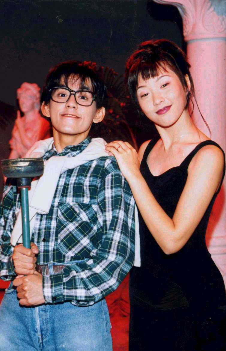 黃子佼1994年與天心模仿藝人演出短劇。圖/聯合報系資料照