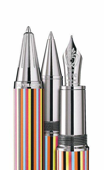 萬寶龍名人系列披頭四樂團特別款,原子筆24,900元(左起)、鋼珠筆27,800...