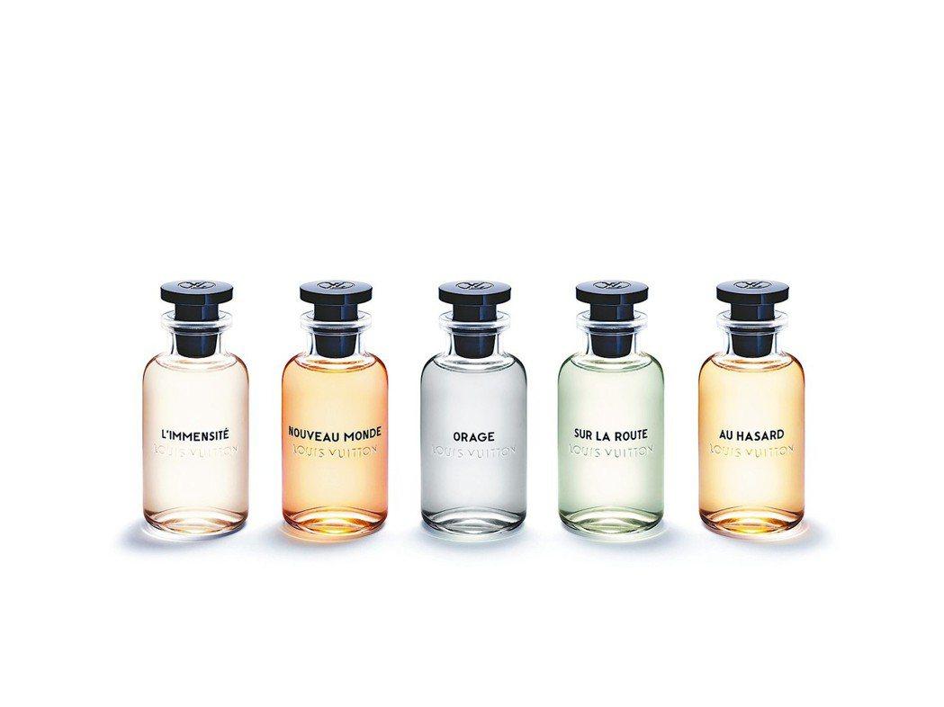 路易威登首批男性香水系列以5種別出心裁的調配,向追尋自我的探險者致敬。 圖/各業...