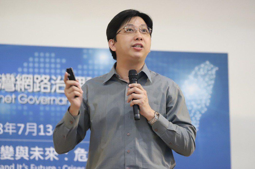 臺北大學法律系教授黃銘輝。 彭子豪/攝影