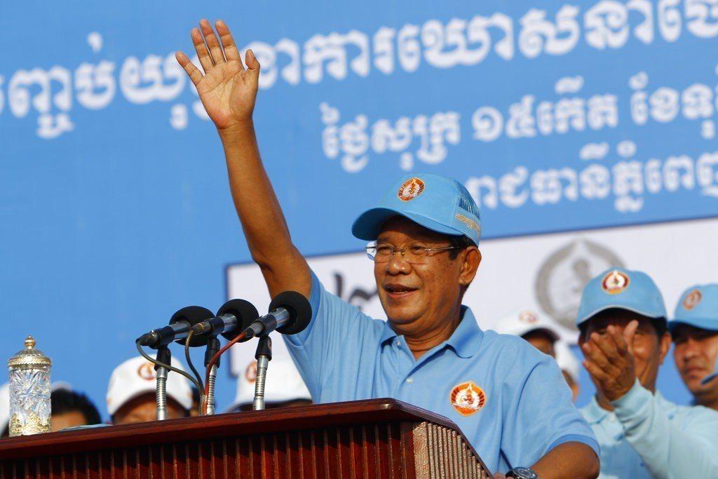 柬埔寨政治強人洪森(Hun Sen)。 美聯社