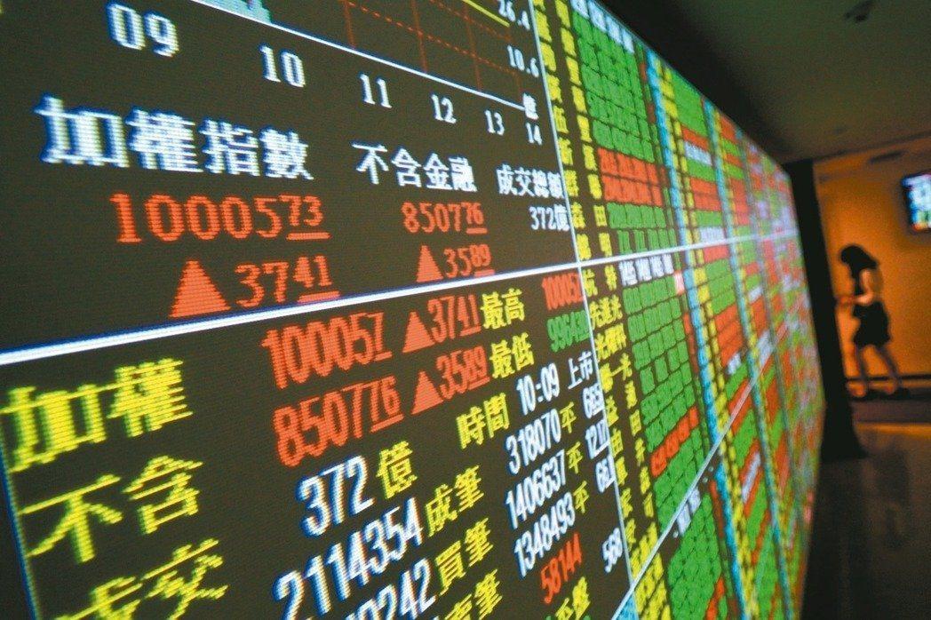 台股本週上漲143.67點,漲幅約1.31%。 聯合報系資料照
